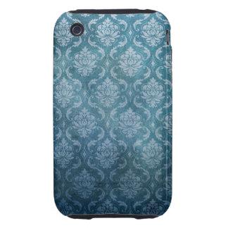 Blue Vintage Damask iPhone 3 Tough Case