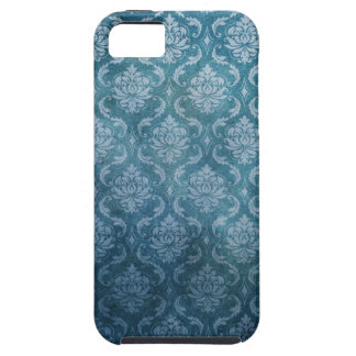 Blue Vintage Damask Case For The iPhone 5