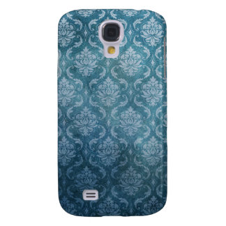 Blue Vintage Damask Galaxy S4 Case