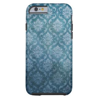 Blue Vintage Damask Tough iPhone 6 Case