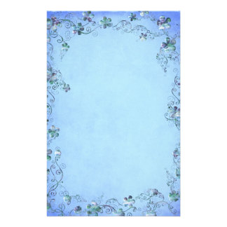Blue Vintage Floral Wedding Custom Stationery