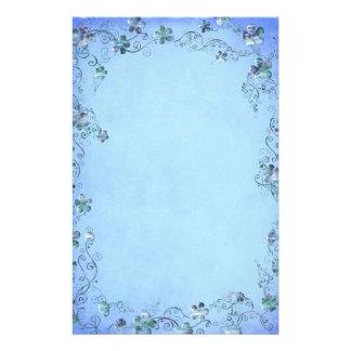 Blue Vintage Floral Wedding Custom Stationery