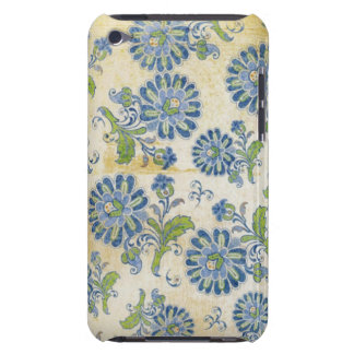 Blue Vintage Flowers Barely There iPod Case