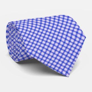 Blue vintage gingham tie