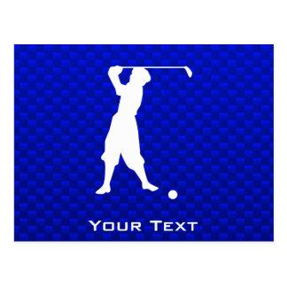 Blue Vintage Golfer Post Cards
