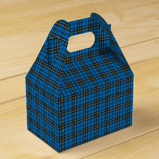 Blue Vintage Plaid Gift Box Party Favour Boxes
