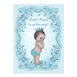 Blue Vintage Prince Baby Shower Custom Announcement