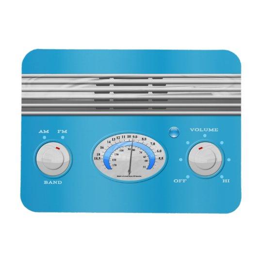 Blue Vintage Radio Rectangular Photo Magnet