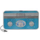 Blue Vintage Radio Travelling Speakers