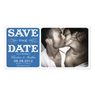 BLUE VINTAGE  | SAVE THE DATE ANNOUNCEMENT CUSTOMISED PHOTO CARD