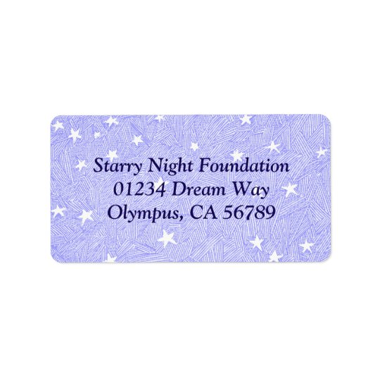 Blue Vintage Stars Etching Custom Address Label