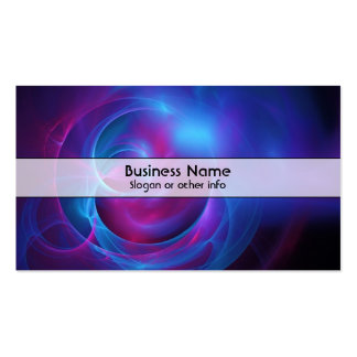 Blue Violet and Pink Cosmic Swirly fractal Business Cards