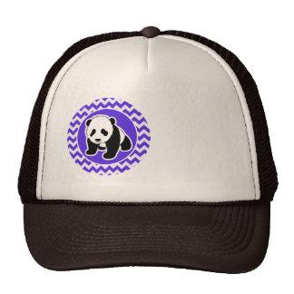 Blue Violet Chevron; Panda Cap