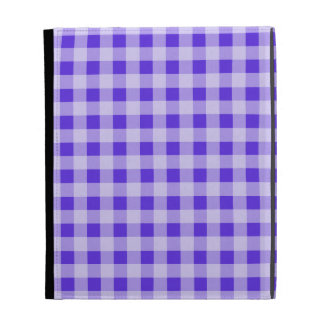Blue Violet Gingham; Checkered iPad Folio Covers