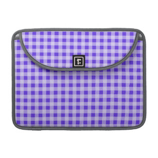 Blue Violet Gingham; Checkered MacBook Pro Sleeves