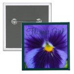 Blue-Violet Pansy 15 Cm Square Badge