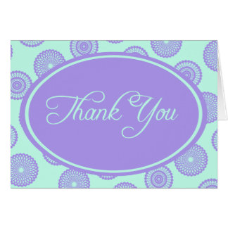 Blue Violet Thank You Card