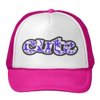 Blue Violet Tropical Hibiscus Mesh Hat