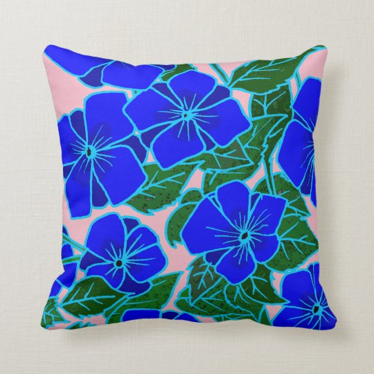 Blue Violets #6 Throw Pillow
