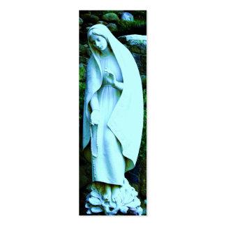 Blue Virgin Mary BOOKMARK Business Card Template