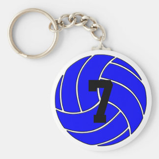 Blue Volleyball Keychain (Key Ring)