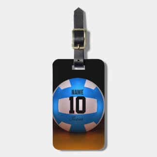 Blue Volleyball Luggage Tag
