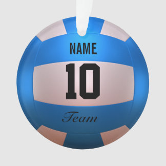Blue Volleyball Ornament