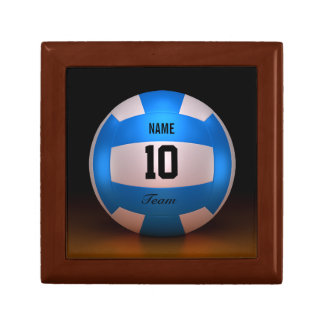 Blue Volleyball Small Square Gift Box