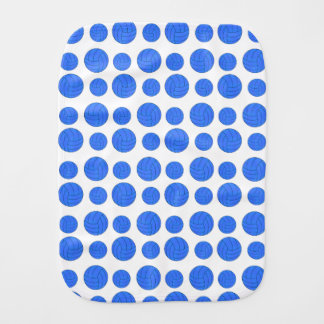 Blue volleyballs burp cloth