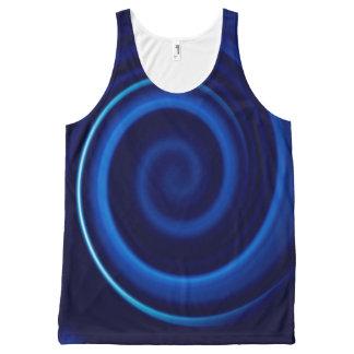 Blue Vortex Men's Tank Top All-Over Print Tank Top