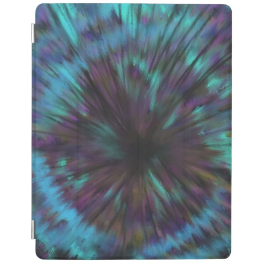 Blue Vortex Optical illusion Abstract Art Design iPad