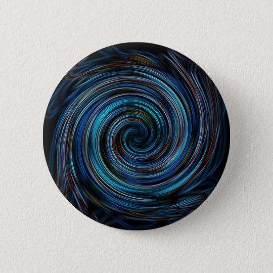Blue Vortex Spiral 6 Cm Round Badge