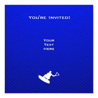 Blue Wakeboarder 13 Cm X 13 Cm Square Invitation Card