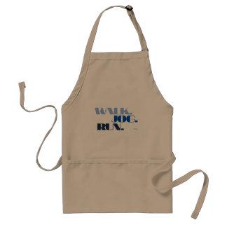 BLUE WALK JOG RUN (font CHUNKY) Standard Apron