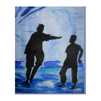 BLUE WALL ACRYLIC WALL ART