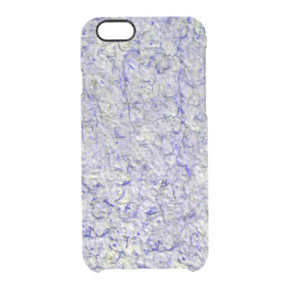 Blue wall background clear iPhone 6/6S case