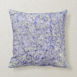 Blue wall background cushion