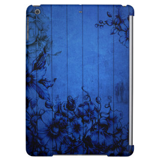 Blue Wall Flowers - Couple - Glossy iPad Air Case
