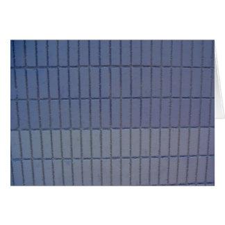 blue wall greeting card