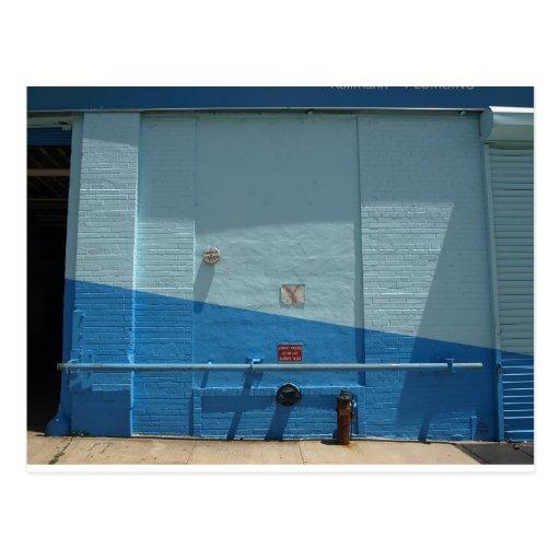 Blue Wall Post Card