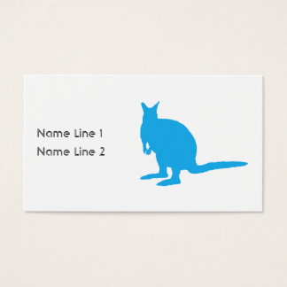 Blue Wallaby. Business Card