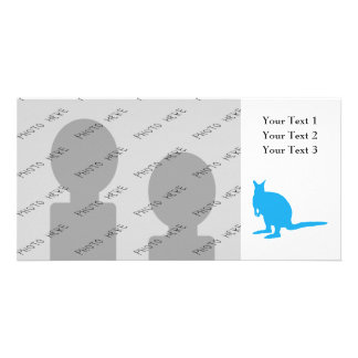Blue Wallaby. Picture Card