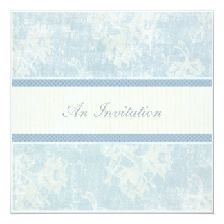 Blue Waltz 13 Cm X 13 Cm Square Invitation Card