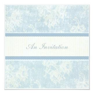 Blue Waltz 5.25x5.25 Square Paper Invitation Card