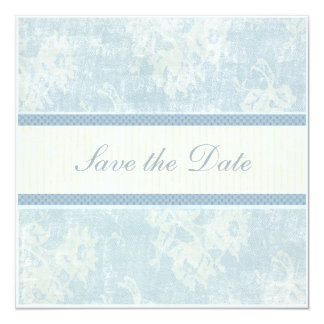 Blue Waltz Save the Date 13 Cm X 13 Cm Square Invitation Card