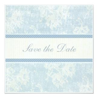 Blue Waltz Save the Date 5.25x5.25 Square Paper Invitation Card