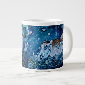 Blue Warthog Large Coffee Mug