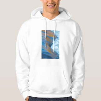 Blue water abstract, Canada Hoodie