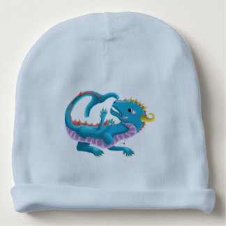 Blue Water Baby Dragon Hat Baby Beanie