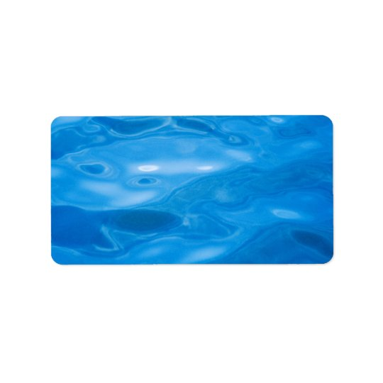 Blue Water Background - Customised Template Address Label